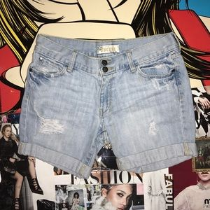 Pants - Denim Jean Shorts - Summer shorts, Ripped Denim