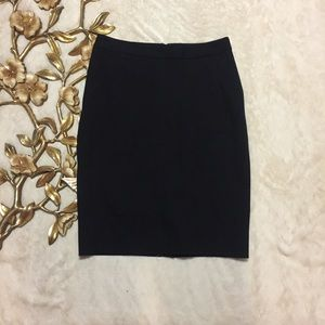 Ann Taylor Black Pencil Skirt Size 2