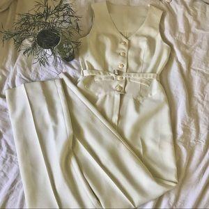 VINTAGE   60's handmade tailored jumpsuit