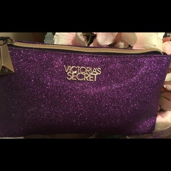 40 Off Victoria S Secret Handbags Purple Glitter