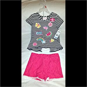 Flapdoodles Other - ♡2Pc Set ~Flapdoodles Matching Top & Shorts Patch