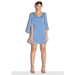 Milly Dresses & Skirts - Milly V-neck Butterfly Sleeve Blue Silk Dress