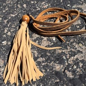 Jewelry - Inspiration leather words tassel necklace BEST !
