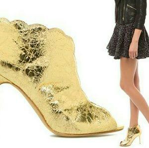 Gold Bootie heels