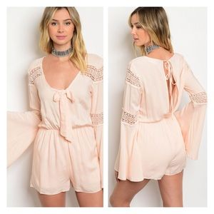 Pants - Bell Sleeve crochet romper