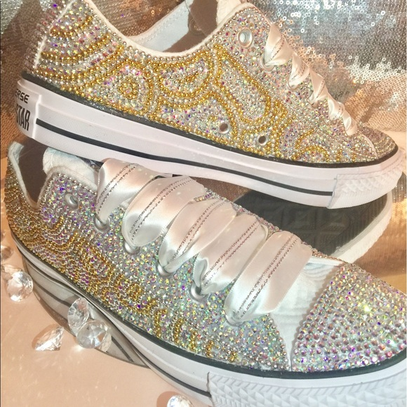 b0ffbabd1503 Custom Curve Design Bling Converse  Made to Order