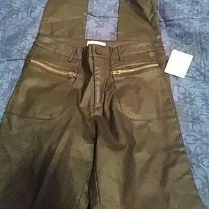 Just Fab Pants - NWT Just Fab black, shiny skinny pants