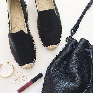 Soludos Shoes - Soludos Leather Platform Espadrilles