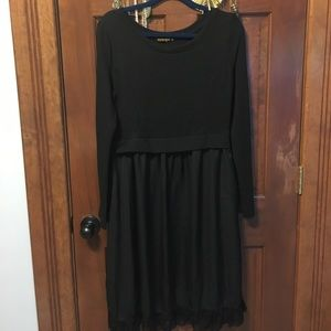 Sweater/silk dress- brand Reborn