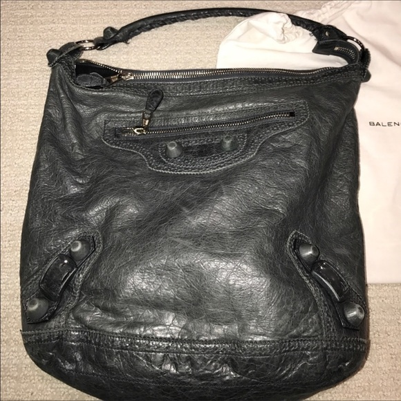 d9b1286e11f5d 81% off Balenciaga Handbags - Balenciaga Charcoal Grey Day Hobo Bag!  Authentic from Sami