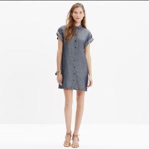 Madewell Dresses & Skirts - Madewell Chambray Linen Tunic Dress