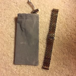 Michele Accessories - 100% Auth Michele 18mm two tone gold silver band💝