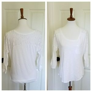 Maurices White Lace Top