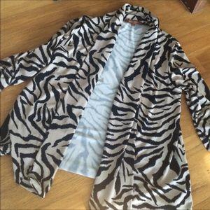 Ellen Tracy Sweaters - Animal print cardigan