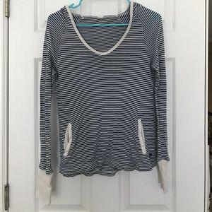 Roxy striped hooded long sleeve