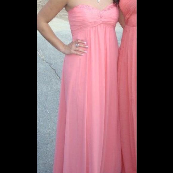 davids bridal Dresses   Peachpink Prom Dress Size 10   Poshmark