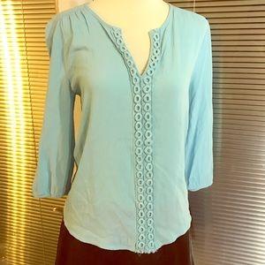 Alya Tops - Alya ocean blue summer blouse