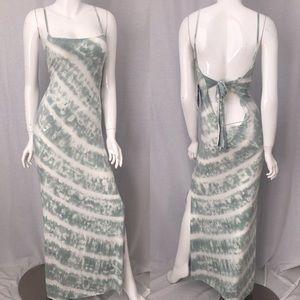 🌴NWT Size Large YF&B Open Back Tie Dye Maxi Dress