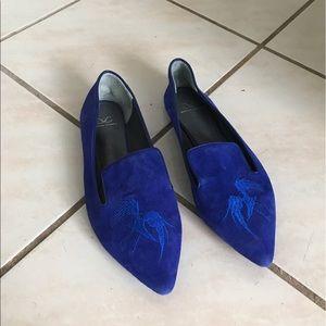 Monika Chiang Shoes - Monika Chiang blue suede slippers