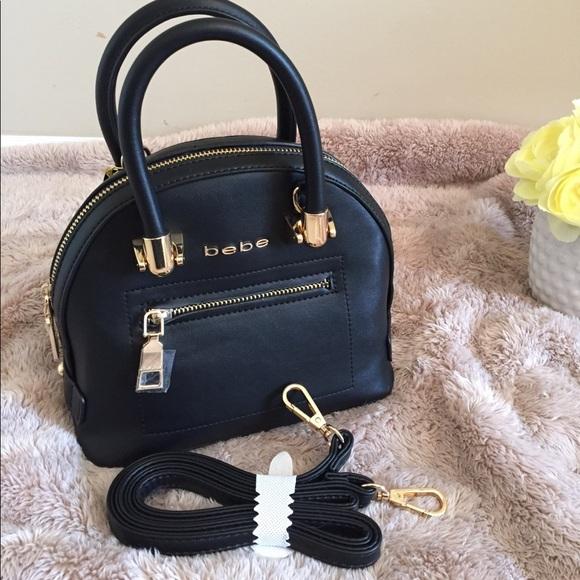 bebe Bags   Nwt Joelle Mini Dome Satchel Crossbody Bag   Poshmark 0ca24531e7