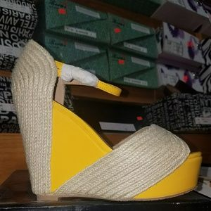 Yellow and cream wedges
