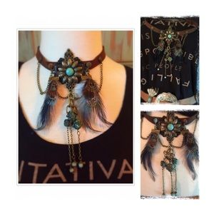 Upcycle Gypsy Jewelry - Hand Made By Me🌷 Boho Tribal Choker Necklace