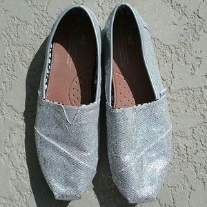 TOMS Shoes - Sparkly Silver TOMS