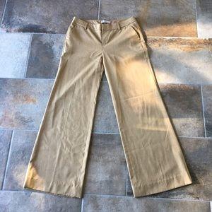 Gap tan wide leg trousers