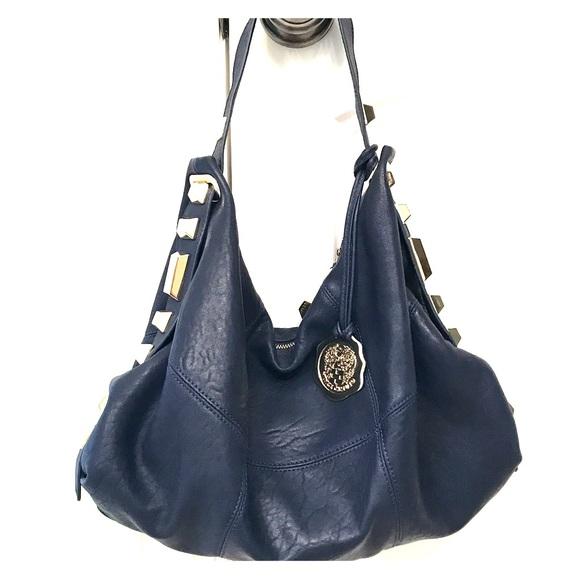 e48e3386d9 Vince Camuto Navy with Gold Hardware Shoulder Bag.  M 59302f2a78b31c73ae0d960d