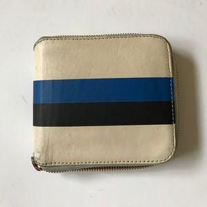 Clare Vivier Handbags - Clare V. Half Zip Wallet in White