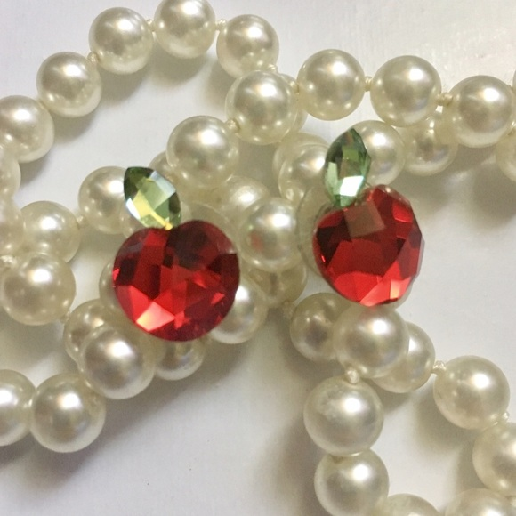 ab7b36768 Swarovski Authentic Red Crystal Apple Earrings. M_593030f936d594cd730d7ba0