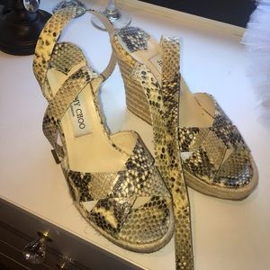 Jimmy Choo Shoes - Jimmy Choo Snakeskin Wedges