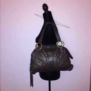 Bulga Handbags - Brown leather Bulga Bag. Shoulder bag.