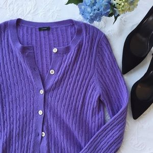{j. crew} cashmere cable knit cardigan