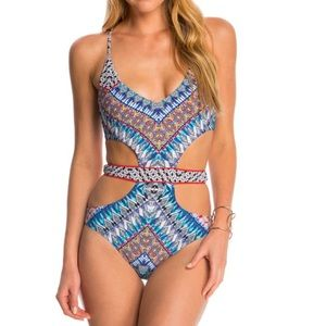 red carter Other - Red Carter Dream Cut Out 1 Piece Swimsuit XS new