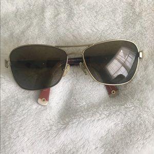 Caroline Tortoise Coach sunglasses.
