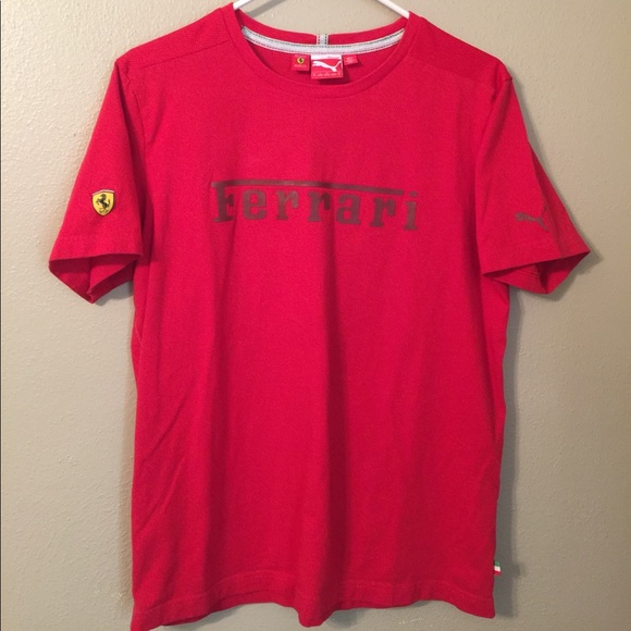 and summer puma s shirt men black ferrari quality clothing t safe polo