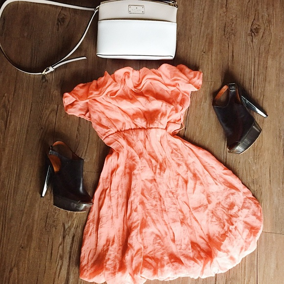 chesley Dresses & Skirts - Chesley // Coral sleeveless summer dress // Med M