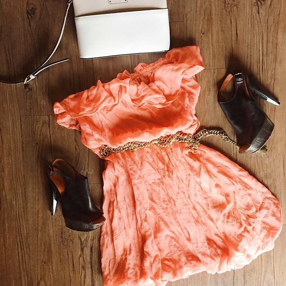 chesley Dresses - Chesley // Coral sleeveless summer dress // Med M