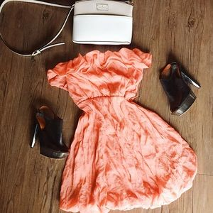 Chesley // Coral sleeveless summer dress // Med M