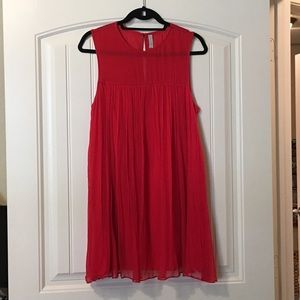 FREE PEOPLE RED SHIFT DRESS