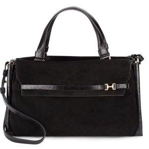 Halston Heritage Handbags - Halston Heritage Satchel Leather & Suede