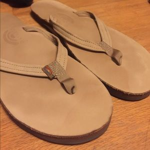 Rainbow Shoes - Tan Rainbow Sandals