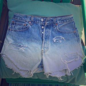 Levi's 501 Ombré Demin Cut Off Shorts