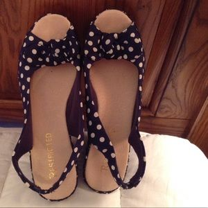 Restricted Shoes - RESTRICTED Polka Dot Wedges