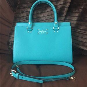 Turquoise Kate Spade Durham Wellesley handbag