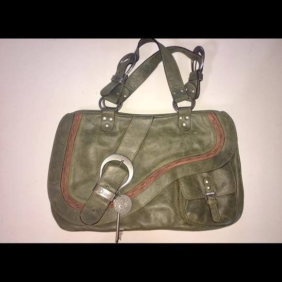 4f0b48870d9b Christian Dior Handbags - Limited edition Christian Dior Gaucho Saddle Bag