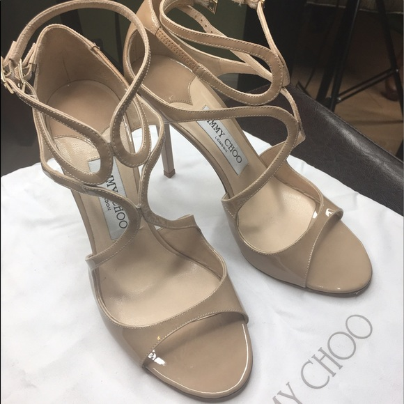 7d8afca8de4b Jimmy Choo Shoes - Jimmy Choo Lance in Nude Patent