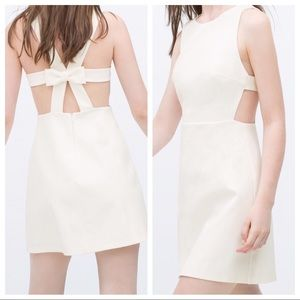 Zara Trafaluc Bow Back Cutout Dress