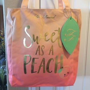 Too Faced Handbags - 🌸NEW TOO FACED SWEET AS A 🍑 TOTE+DELUXE SAMPLES
